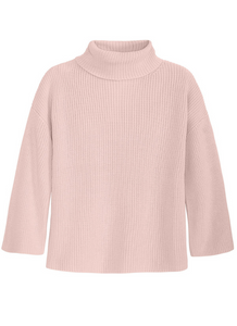 Turtleneck Tunic in Light Pink