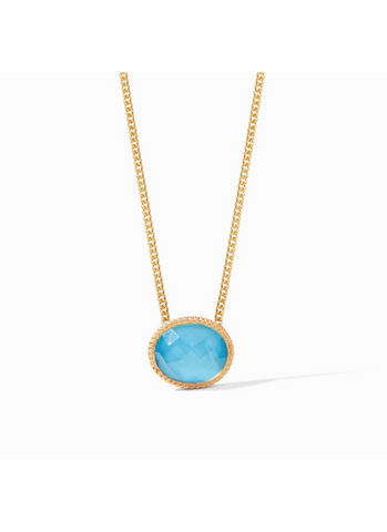 Verona Solitaire Necklace in Pacific Blue