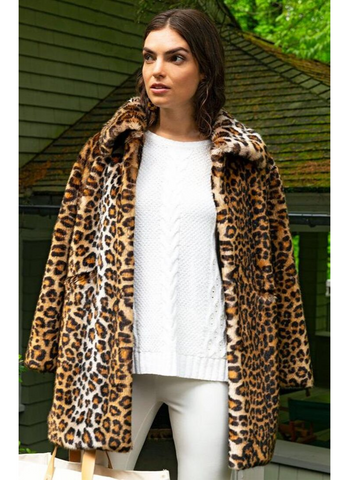 Faux Cheetah Jacket
