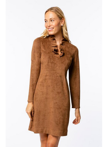 Constance Faux Suede Dress