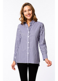 Charles Check Workshirt in Purple Ice