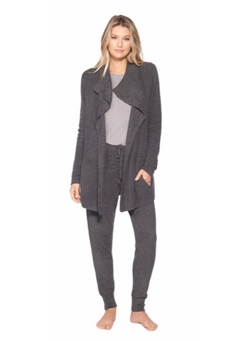 CozyChic Lite Coastal Cardi in Carbon