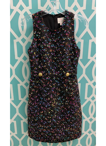Lori Dress in Confetti Tweed