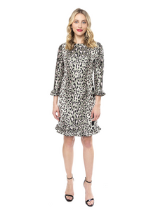 Sable Dress in Leopard Brocade