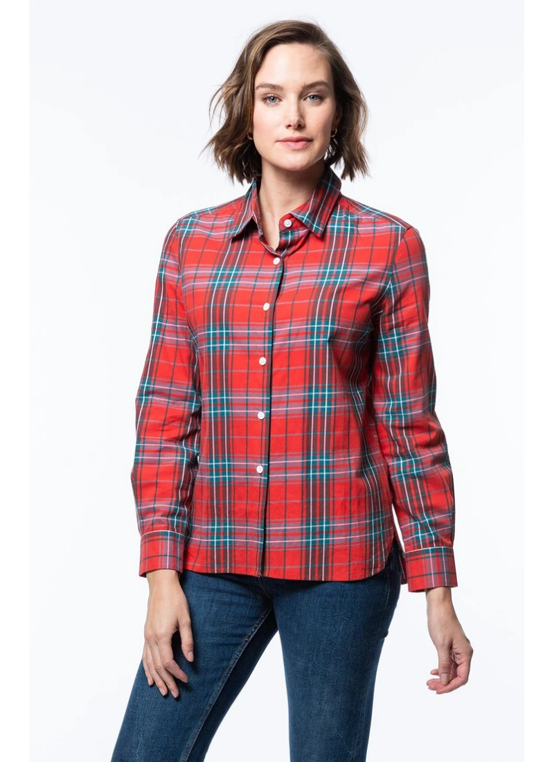 Everly Plaid Blouse