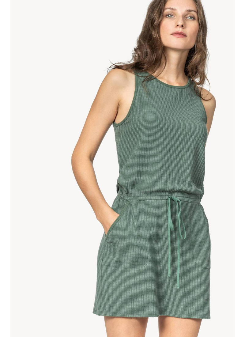 Tie Waist Dress in Vine