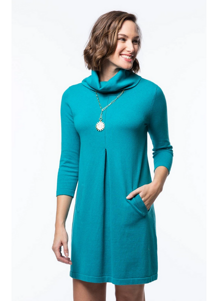 Cotton/Cashmere Kim Cowl Dress