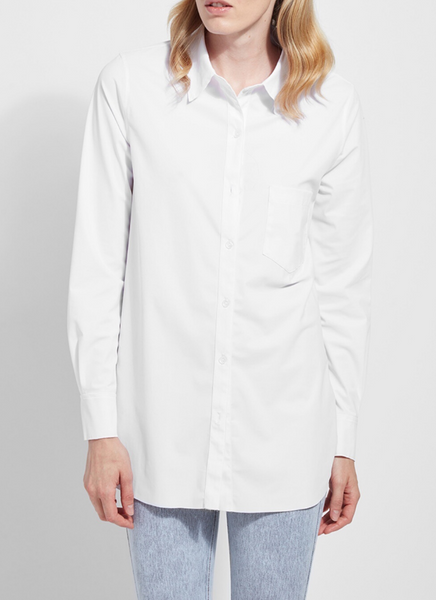 Schiffer Button Down Blouse in White