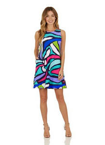 Melody Dress in Oh Abstract