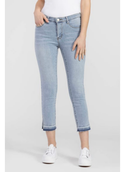 Released Hem Cropped Jean in Blue Sky
