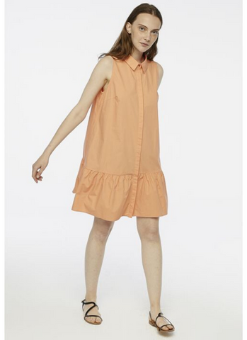 Shirt Dress in Orange