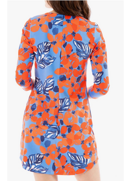 Hinckley Dress in Wildflowers Poppy