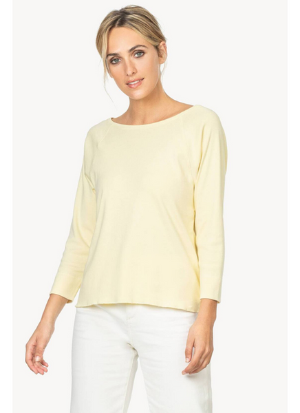 Boat Neck Top in Daffodil
