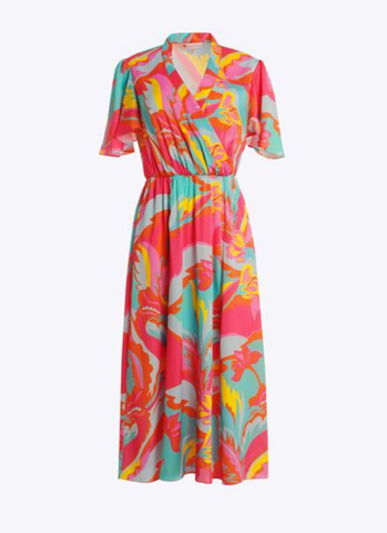 Camille Dress in Mod Floral Silk