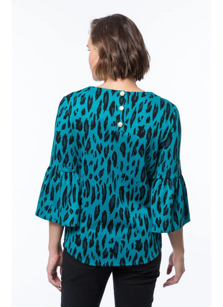 Lisa Button Back Jacquard Top