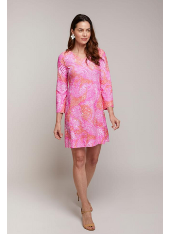 Malvern Dress in Pink Coquina