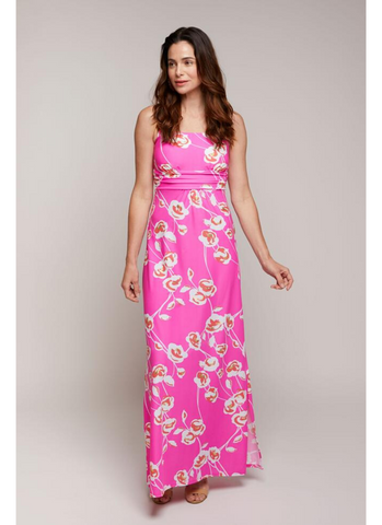 Bellevue Maxi Dress in Pink Cloud Flower