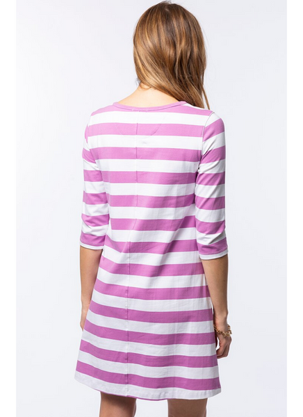 Alexa Stripe Dress in Lotus