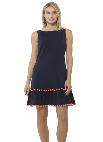 Peplum Pom Pom Dress