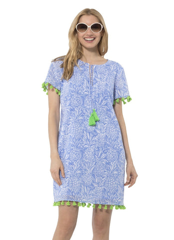Crinkle Cotton Tunic Dress