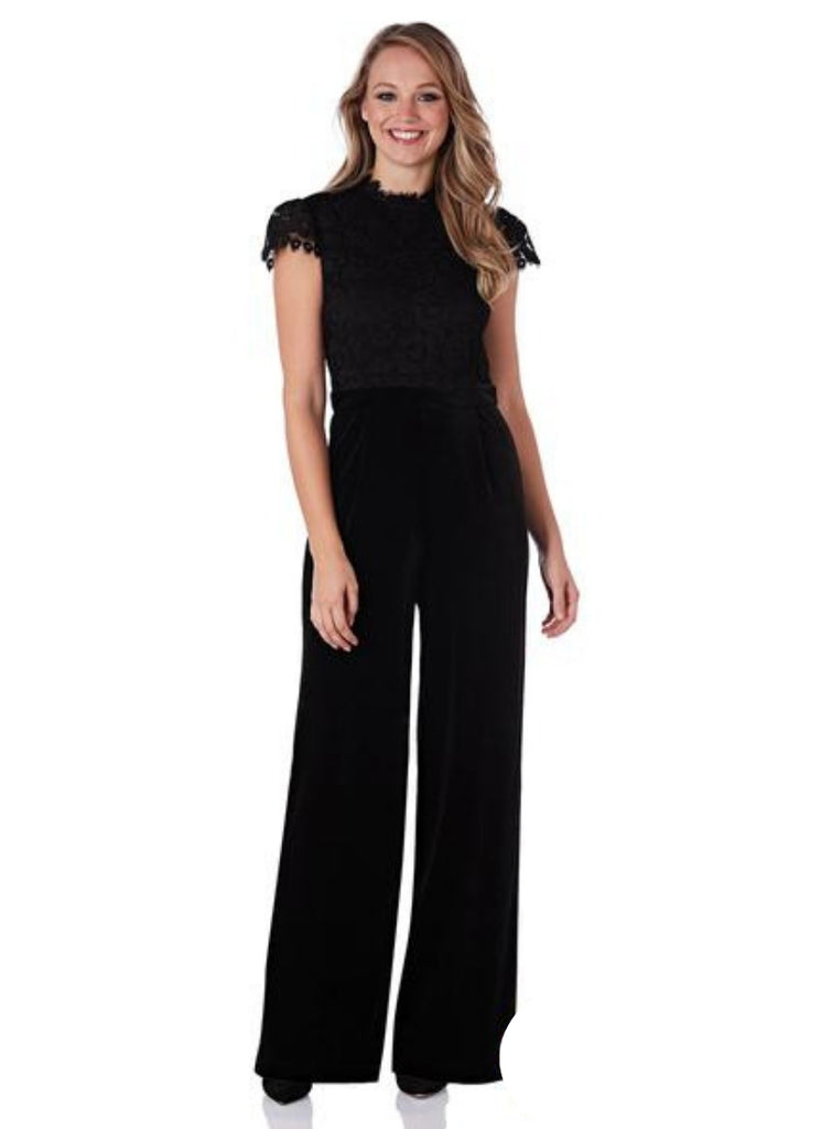 Gianna Lace and Velvet Jumpsuit