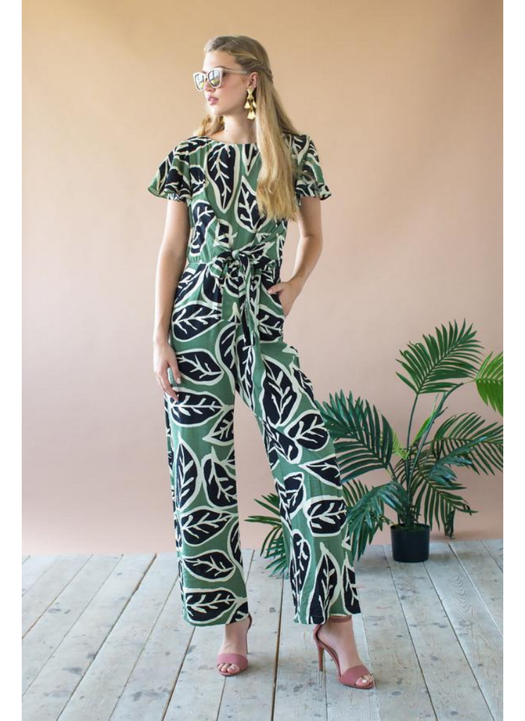 Miranda Jumpsuit in Sage Leaf