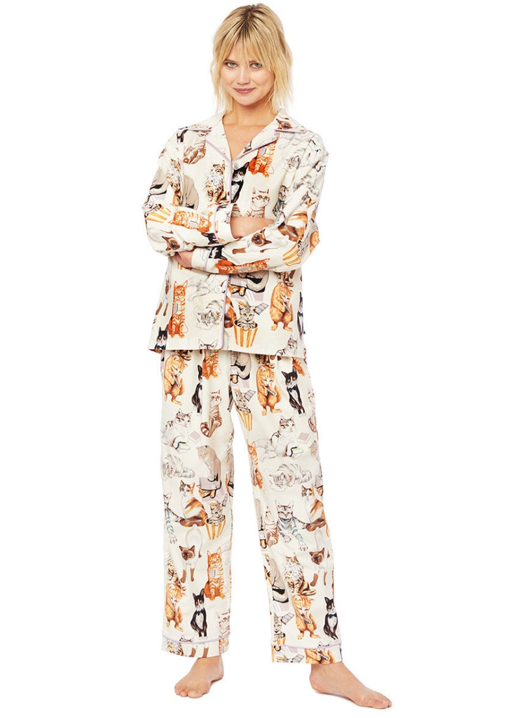 Saucy Cat Flannel Pajama
