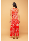 Sunny Jumpsuit in Red Script