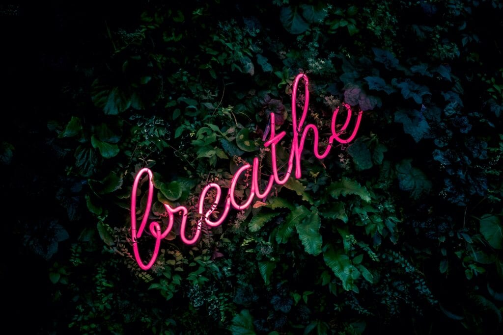image that says breathe by Fabian Moller