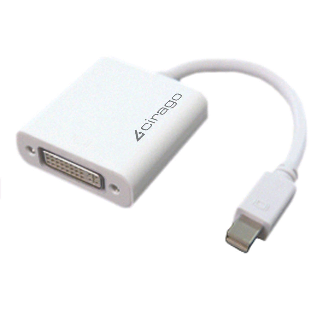 "Cirago 4"" White Mini DisplayPort to DVI Single Link Passive Adapter DPN2022"