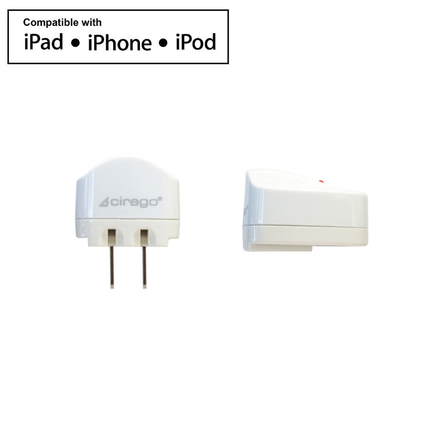 Cirago 1.0A Wall AC Charger for Apple iPod, iPad, iPhone IPA2000