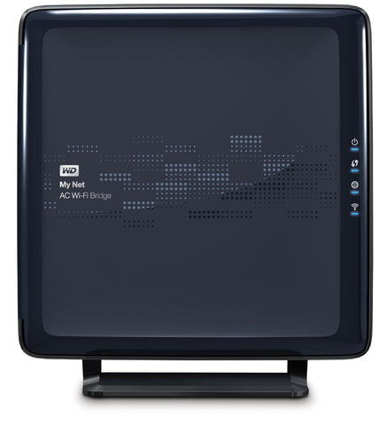 Western Digital WD My Net AC Bridge, 4-Port Gigabit WiFi Bridge WDBMRD0000NBL