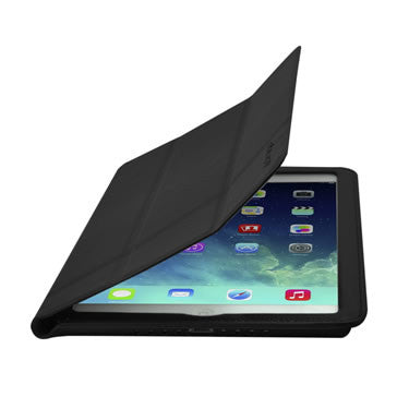 Cirago Slim-Fit Genuine Leather Case for iPad Air - Black IPCP5LA1BLK