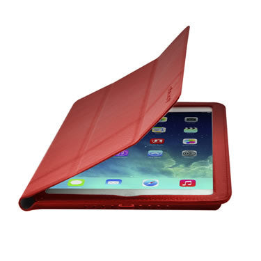Cirago Slim-Fit Genuine Leather Case for iPad Air - Red IPCP5LA1RED