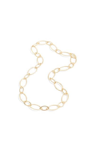 VHERNIER Pop Pink Gold Marquis Chain Necklace