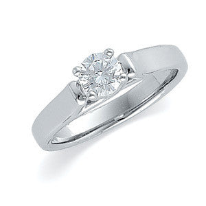 White Gold 1/2ct. Diamond Solitaire Engagement Ring