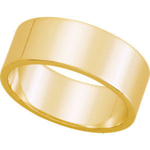 Yellow Gold 7mm Pipecut Wedding Band