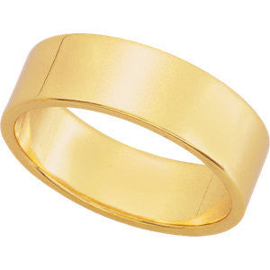 Yellow Gold 6mm Pipecut Wedding Band