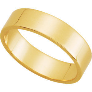Yellow Gold 5mm Pipecut Wedding Band