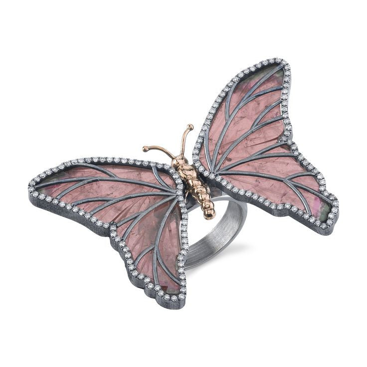 Michael Barin Organic Silver Butterfly Ring