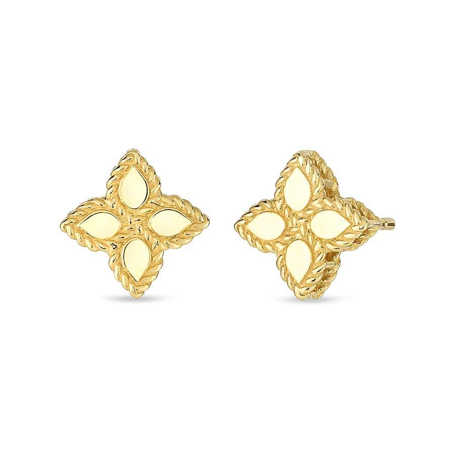 Roberto Coin Princess Flower Gold Earrings