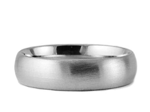 White Gold 7mm Brushed Comfort Fit Wedding Band
