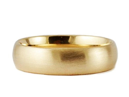Yellow Gold 7mm Brushed Comfort Fit Wedding Band