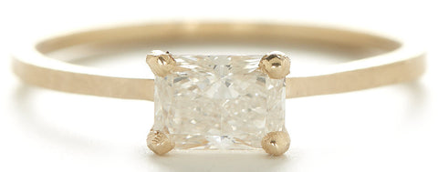Jennifer Dawes Design Stacking Radiant Horizontal Diamond Ring