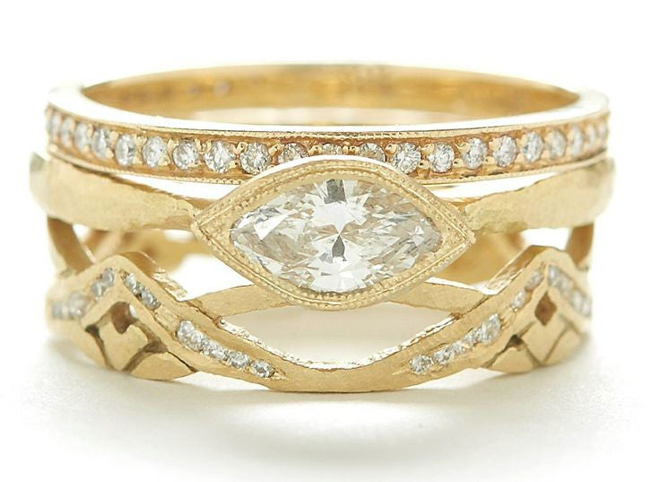 Jennifer Dawes Design Etruscan Marquise Engagement Ring