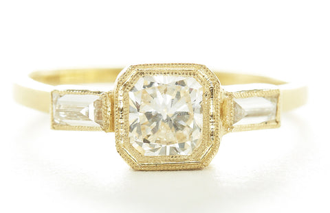 Jennifer Dawes Design Blockette Diamond Engagement Ring