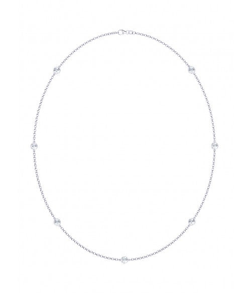 Packouz Jewelers Collection Diamond Station Necklace