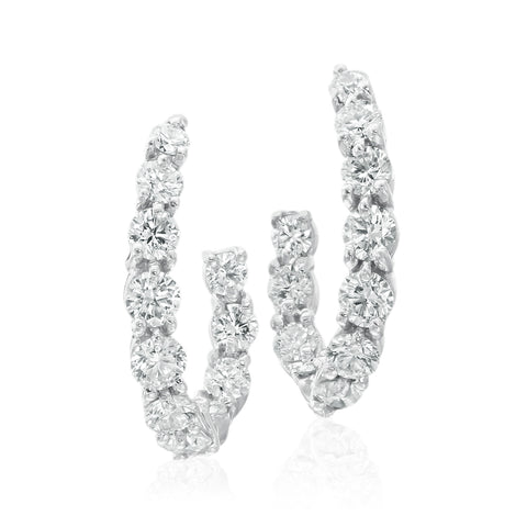 Gumuchian New Moon Diamond Earrings
