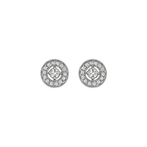 Penny Preville Pave Diamond Halo Earrings