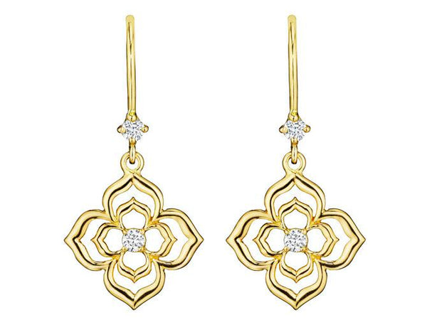 Penny Preville Echo Diamond Flower Earrings